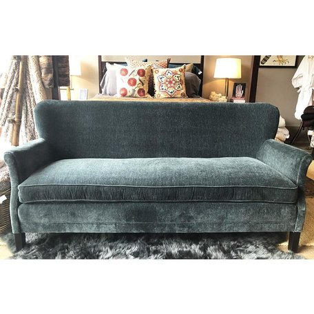 Pippa Apartment Sofa in Everest Lagoon w/ Tack Trim Around Outside Back by Lee Industries