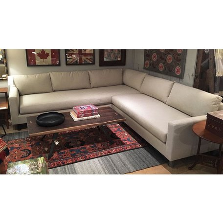 Hunter Sectional w/ Bench Seat in Ridley Flax by MGBW
