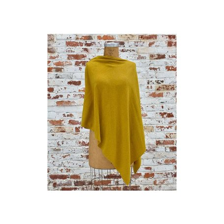 Cashmere Poncho in Lotta Yellow