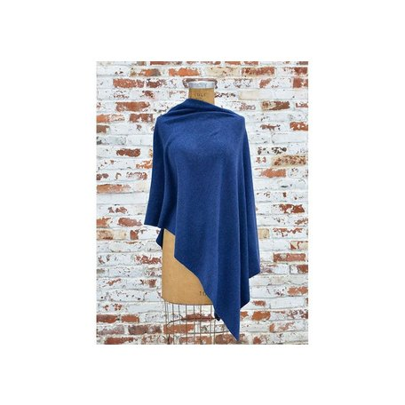 Cashmere Poncho in Navy