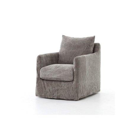 Ford Swivel Chair in Stonewash Jute