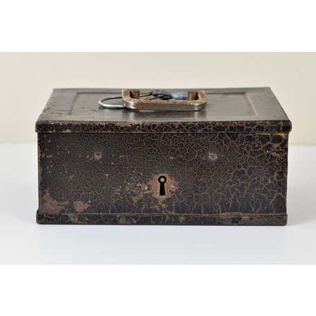Vintage French Metal Box w/Lock
