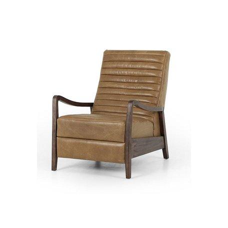Fala Recliner in Warm Taupe Dakota Leather