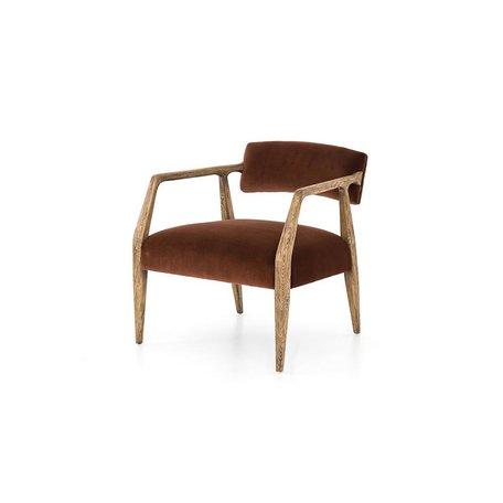 Frederick Arm Chair in Burnt Auburn Velvet