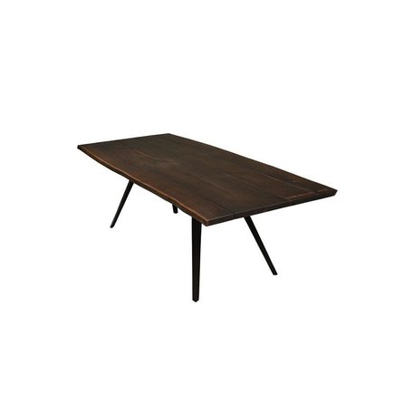 "Nelson 82 3/4"" Dining Table in Seared Black"