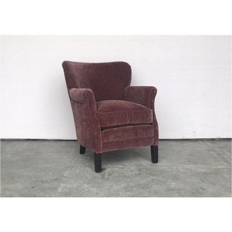 East Chair in Everest Mulberry by Lee Industries