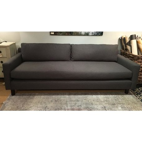 """Hunter 90"""" Sofa in Ridley Charcoal w/ Bench Seat and No Welt by MGBW"""
