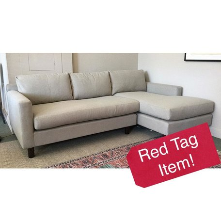 Hunter Studio Sectional w/ Bench Seat in Ridley Pewter by MGBW