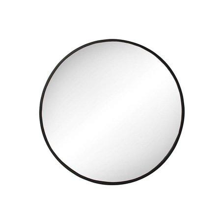 Pur Round Iron Mirror
