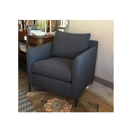 Radley Chair in Blake Slate w/ Feather Cloud Cushions by Cisco Brothers
