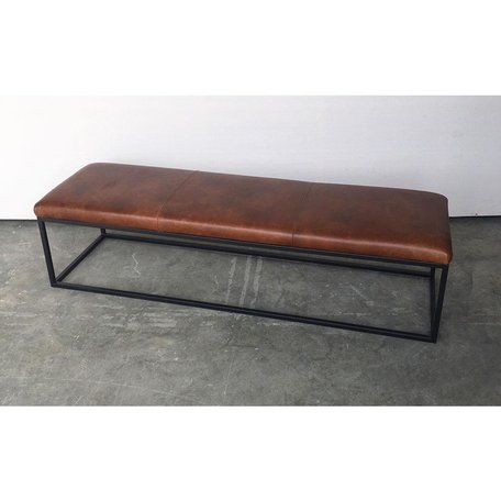Brody Leather Bench