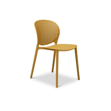 Bailey Polypropylene Side Chair in Ginger