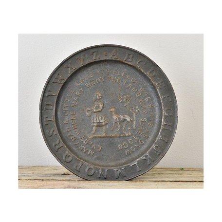 Vintage ABC TIn Plate