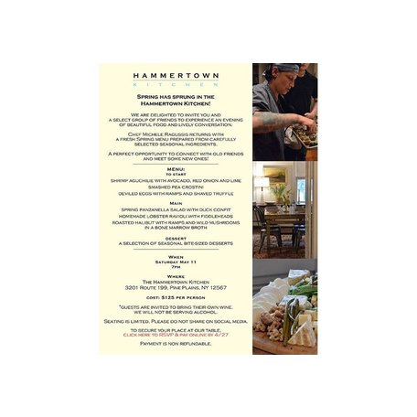 Hammertown Kitchen Spring Event with Chef Michele Ragussis