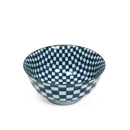 """Ichimatsu Checker 6"""" Bowl"""