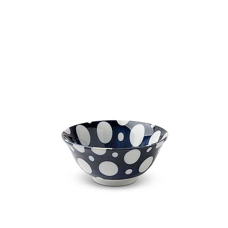 "Blue & White Dots 5.75"" Bowl"