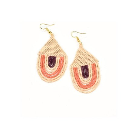 Pink Sunset Seed Bead Earring