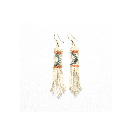 Ivory Petite Fringe Seed Bead Earrings