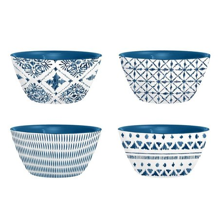 Indochine Ikat Melamine Dip Bowls, Set of 4