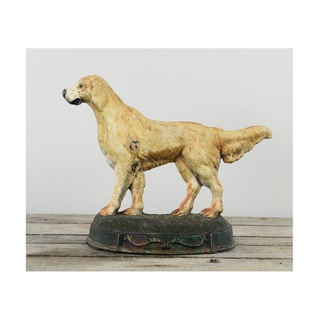 Vintage Iron Dog Door Stop