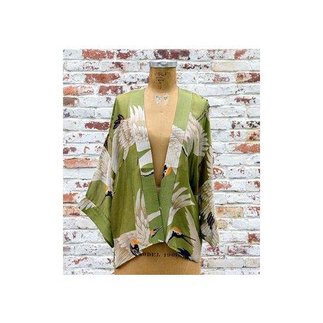 Heron Short Kimono