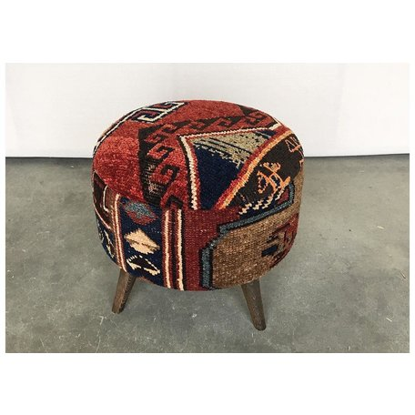 Vintage Large Rug Ottoman 0419DD