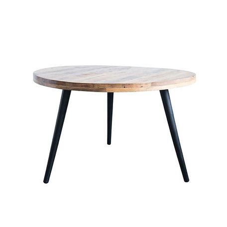 Metal and Mango Wood Round Dining Table