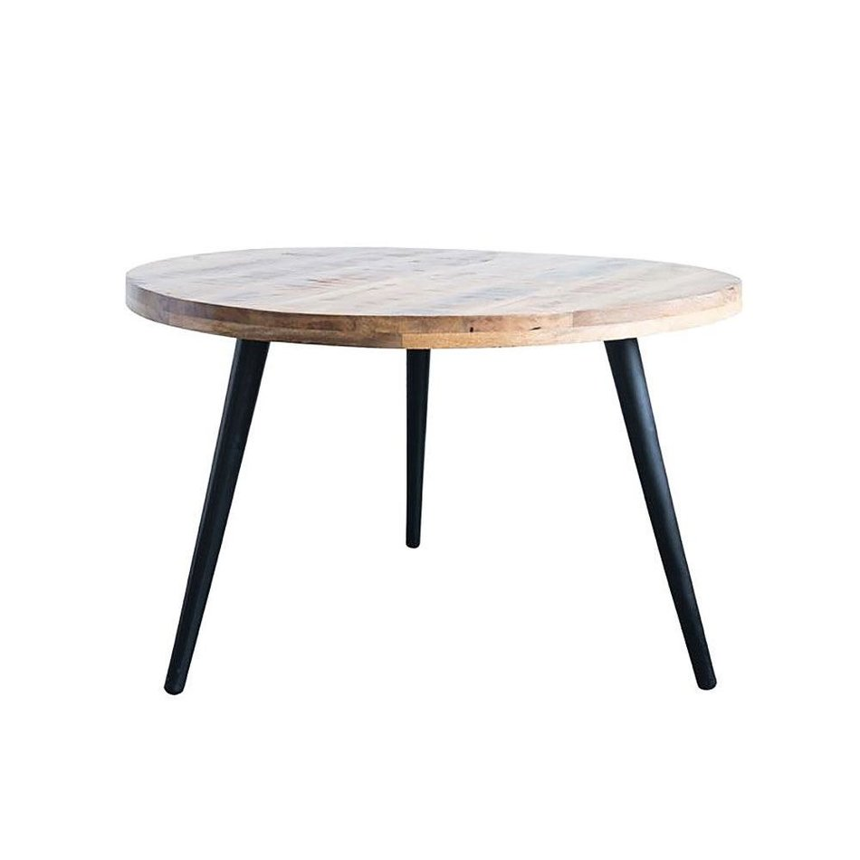 Metal And Mango Wood Round Dining Table Hammertown Barn