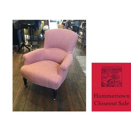 Miranda Chair in Crypton Pendleton Poppy by Lee Industries