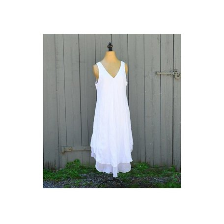 Tiffany Cotton Dress in White
