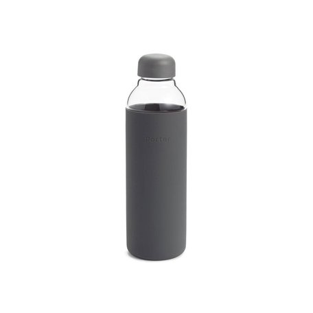 Porter Glass Water Bottle in Charcoal