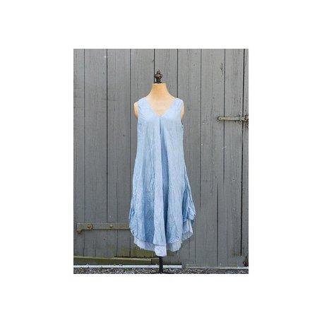 Tiffany cotton dress silver blue