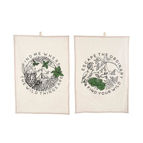 Wild Thing Tea Towels, Set of 2