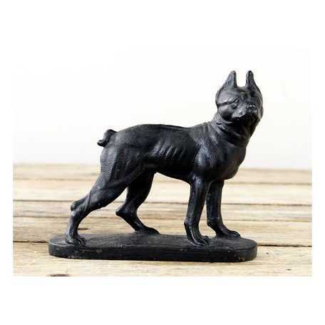 Vintage Cast Iron Dog Boston Terrier