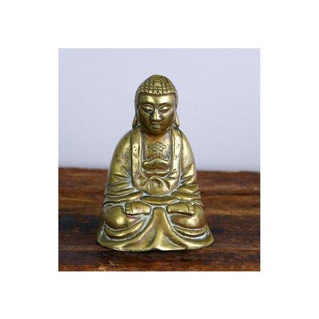 Vintage Sitting Brass Buddah Statue