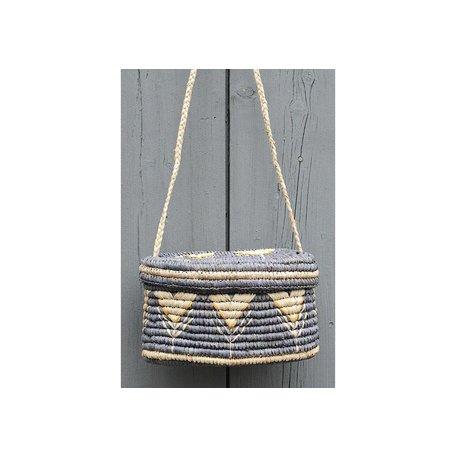 Esmerelda Basket Crossbody Bag in Dove