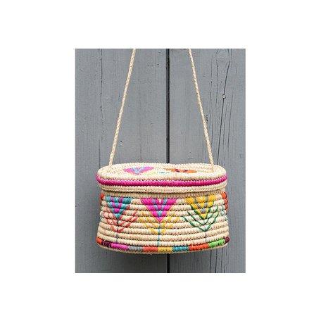 Esmerelda Basket Crossbody Bag in Natural