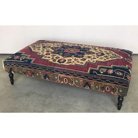 Vintage Rug Ottoman 0419-H