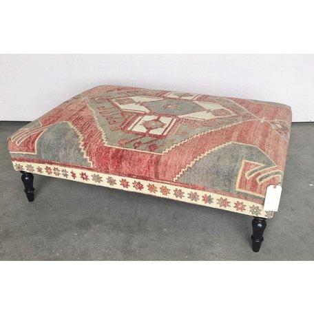 Vintage Rug Ottoman 0419-J