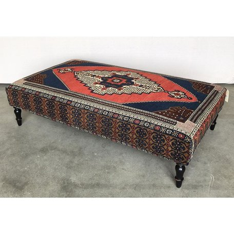 Vintage Rug Ottoman 0419-N