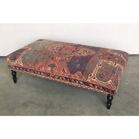 Vintage Rug Ottoman 1019-B