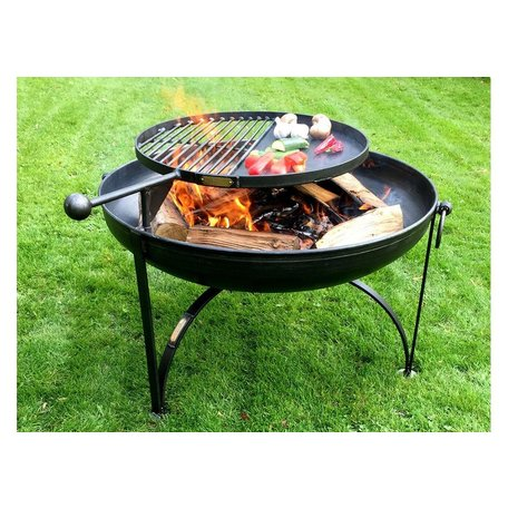 "Plain Jane 32"" Firepit w/Swing Arm"