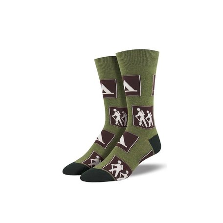 Men's Signs of the Trail Socks in Heather Olive