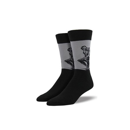 Men's The Thinker Socks in Light Grey