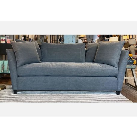 "Seda 84"" Sofa Upholstered in Molino Slate Organic Cotton w/ Feather Cloud Cushions by Cisco Brothers"