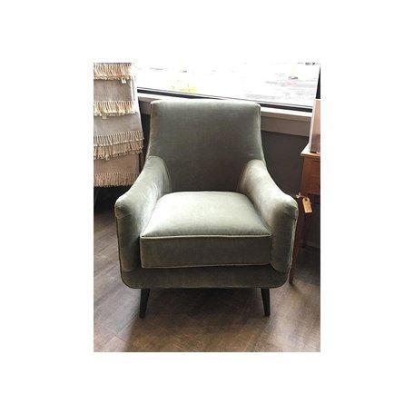 Natalie Chair in Sage w/ Chocolate Finish