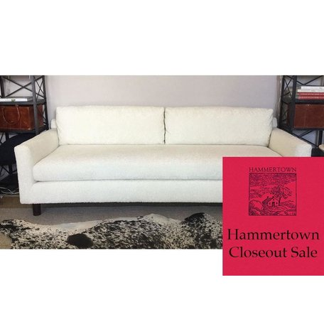 "Hunter 90"" Sofa in Sherpa Natural w/ Bench Seat by MGBW"