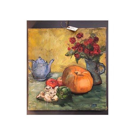 Vintage Still Life w/ Pumpkin