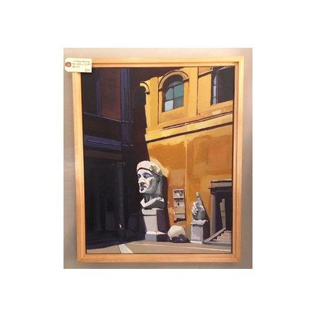 "Vintage Painting by Listed Artist Cordell ""Capitoline Courtyard"""