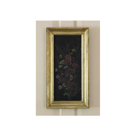 Vintage Framed Flower Painting on Metal